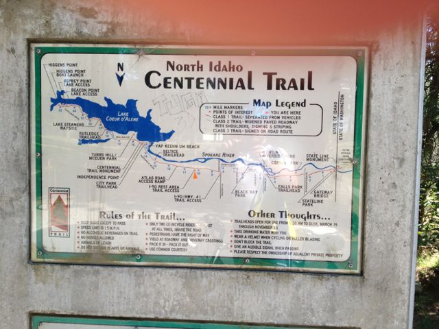 Map and Rules for the Centennial Trail